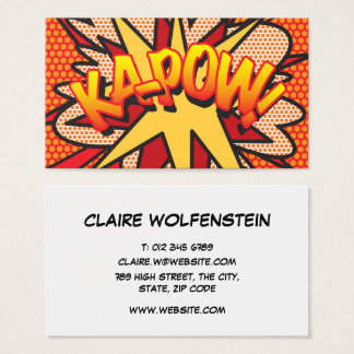 Personalised Comic Book Pop Art KA-POW! Business Card