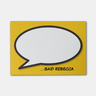Personalised Comic Book Pop Art Speech Bubble Post-it Notes