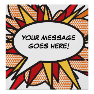 Personalised Comic Book Pop Art Speech Bubble Poster