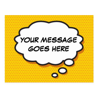 Personalised Comic Book Pop Art Thought Bubble Postcard