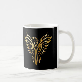 Personalised Cool Gold Phoenix Coffee Mug