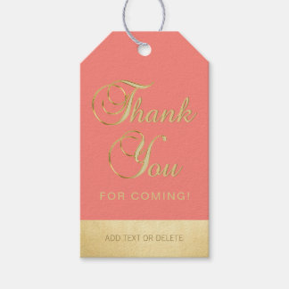 Personalised Coral Gold THANK YOU FOR COMING
