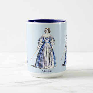 ~ Personalised COSTUMES ~ Lady of Means ~ 1636 ~ Mug