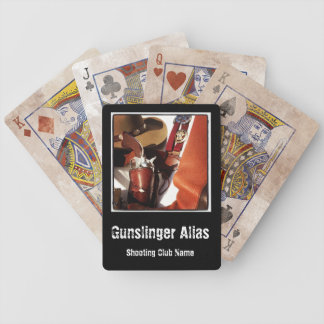 Personalised Cowboy Action Fast Draw Card Deck Poker Deck