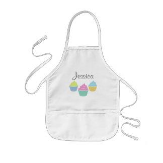 Personalised cupcake baking apron for children