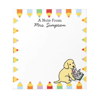 Personalised Curious Yellow Labrador Notepads