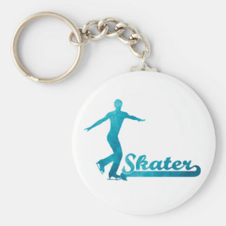 Personalised Custom Figure Skate Giftware Basic Round Button Key Ring