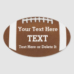 Personalised Custom Football Stickers Your TEXT