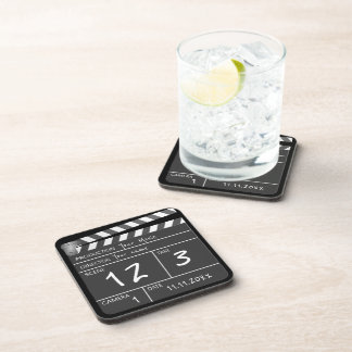 Personalised Custom Movie Clapperboard Novelty Drink Coasters