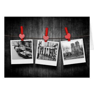 personalised custom photos on clothesline card