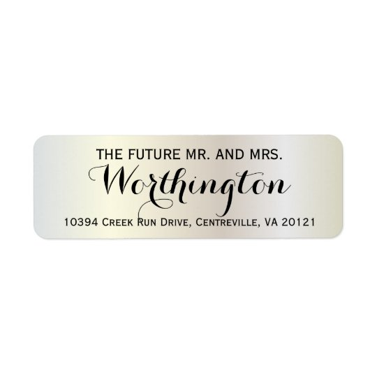 Personalised Custom Wedding Future Mr and Mrs Return Address Label