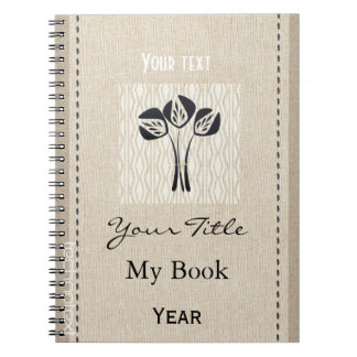 Personalised Cute Black Tulip Gardener Flowers Art Notebooks