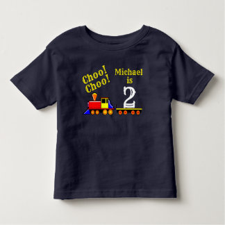 Personalised Cute Choo Choo Birthday Train Toddler T-Shirt