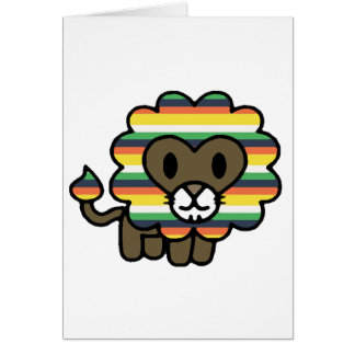 !*PERSONALISED*! Cute funky lion! Card