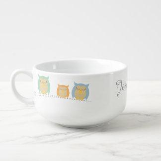 Personalised Cute Owl Soup Mug