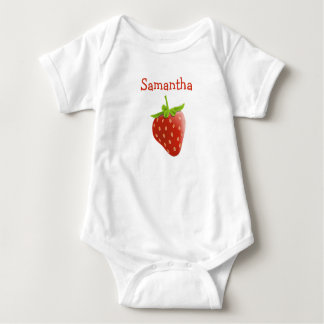 Personalised Cute Strawberry One Piece Baby Tee