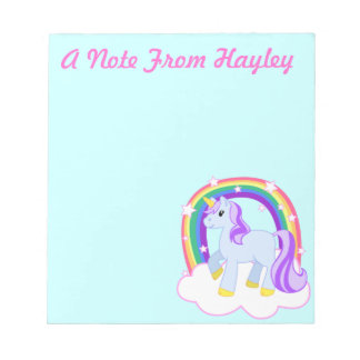 Personalised Cute Unicorn Note Pad