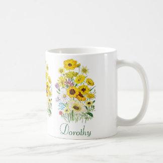 Personalised Daisies Coffee Mug