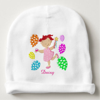Personalised Daisy Cupcake Balloons Kids Baby Beanie