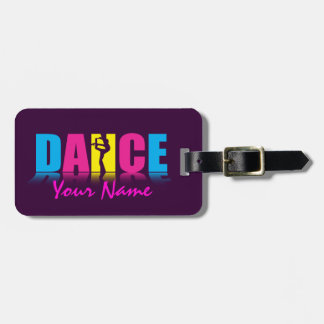 Personalised Dance Dancer Luggage Tag