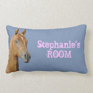 Personalised Denim Blue Colour Horse Pillow