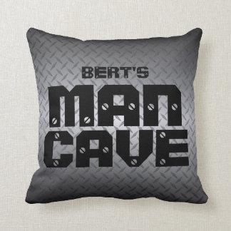 Personalised Diamondplate Man Cave Pillows
