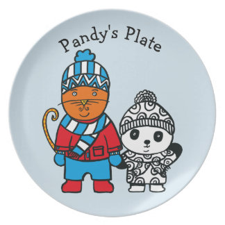 Personalised Dillon and Pandy Plate
