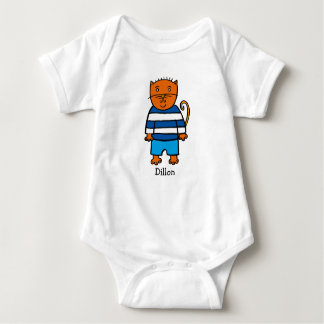 Personalised Dillon the Cat Baby Bodysuit