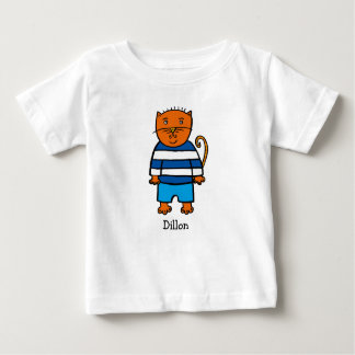 Personalised Dillon the Cat Baby T-Shirt