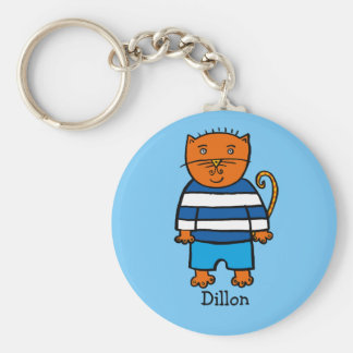 Personalised Dillon the Cat Key Ring