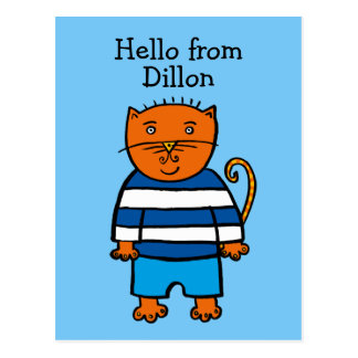 Personalised Dillon the Cat Postcard