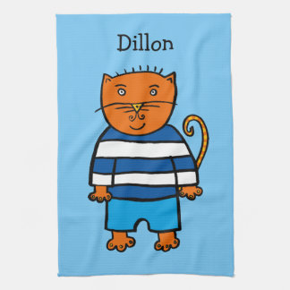 Personalised Dillon the Cat Tea Towel