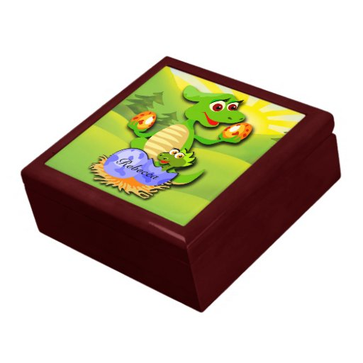 Mother And Baby Gift Box : Personalised dinosaur mother and baby cartoon zazzle