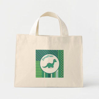 Personalised Dinosaur small tote bag