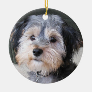 Personalised Dog Photo Frame - DOUBLE-SIDED Ceramic Ornament