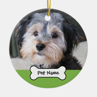 Personalised Dog Photo Frame - SINGLE-SIDED Ceramic Ornament