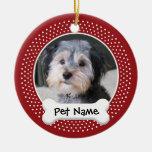 Personalised Dog Photo Frame - SINGLE-SIDED Round Ceramic Decoration