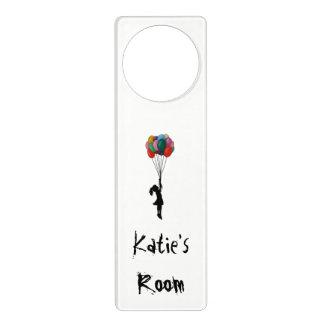 Personalised Door Hanger, Girl with Ballons Door Hanger