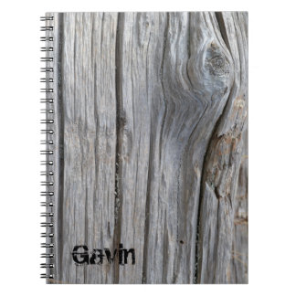 Personalised Driftwood Notebook