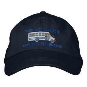 Personalised Driver Mini Bus Shuttle Embroidery Embroidered Hat