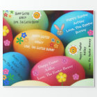 Personalised Easter Bunny Wrapping Paper