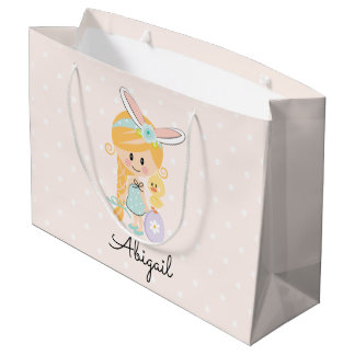 Personalised Easter Gift Bag Bunny Headband Blonde
