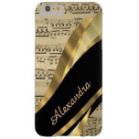 Personalised elegant music sheet barely there iPhone 6 plus case