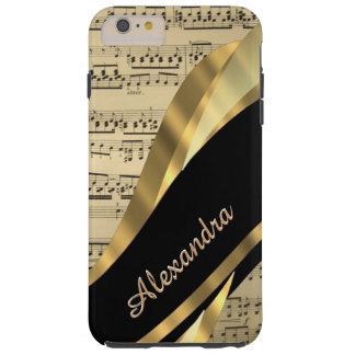 Personalised elegant music sheet tough iPhone 6 plus case
