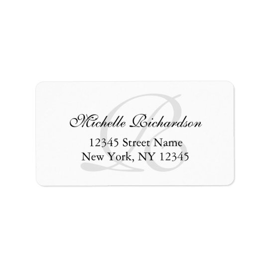Personalised elegant name monogram address labels