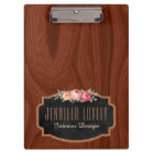 Personalised Elegant Wood Look Rose Gold Glitter Clipboard