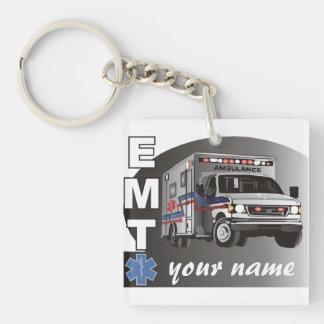 Personalised EMT Single-Sided Square Acrylic Key Ring
