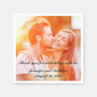 Personalised Engagement Photo Paper Napkins Paper Napkin