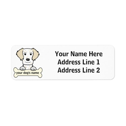 Personalised English Setter Return Address Label
