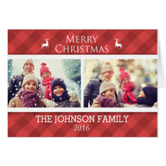 Personalised Family Christmas Photo Card